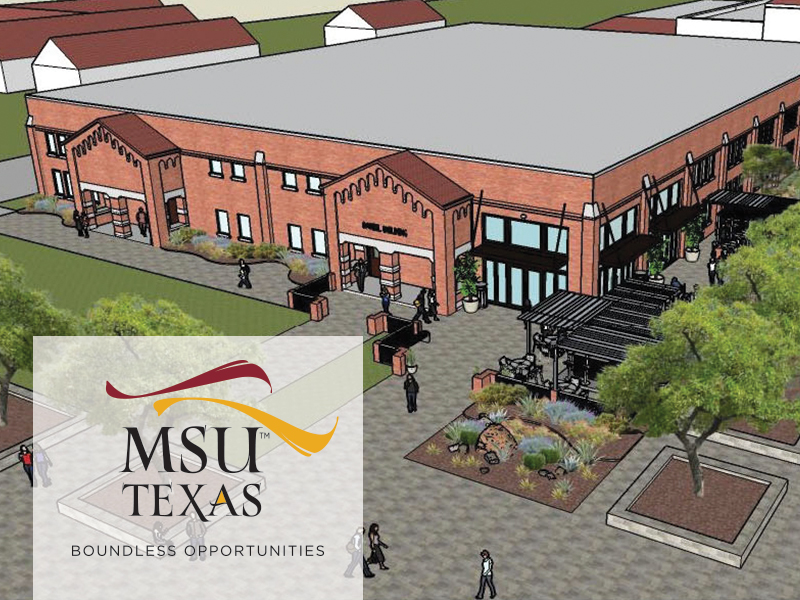 Depiction of proposed student activity center