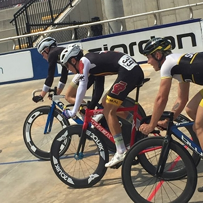 MSU Texas cyclists lean into the race at track nationals